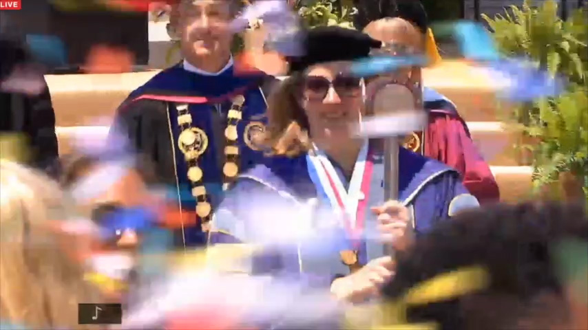 Clinton and confetti at LMU graduation
